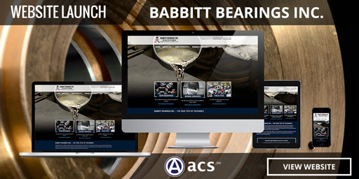 bearing manufacturer commercial web design