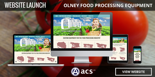 food processing machinery web design