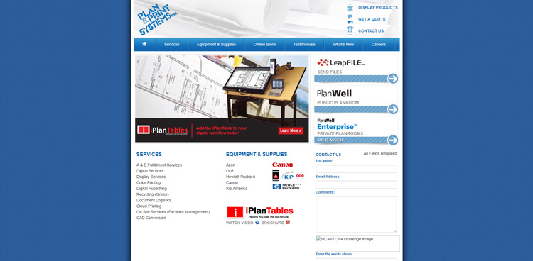 Custom website launch plan print acs inc web for Plan and print syracuse
