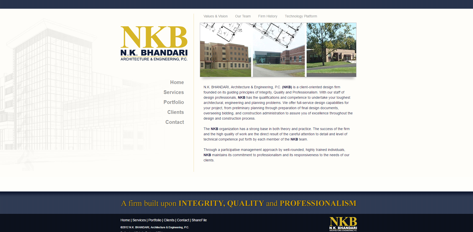 New website launch n k bhandari architecture acs for Architectural websites