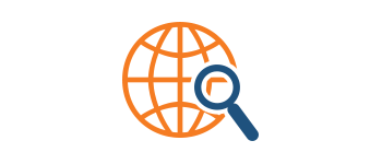 seo services company acs inc web design and seo image of magnifying glass and globe