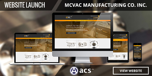 responsive website design and manufacturing web design for mcvac by acs inc web design and seo