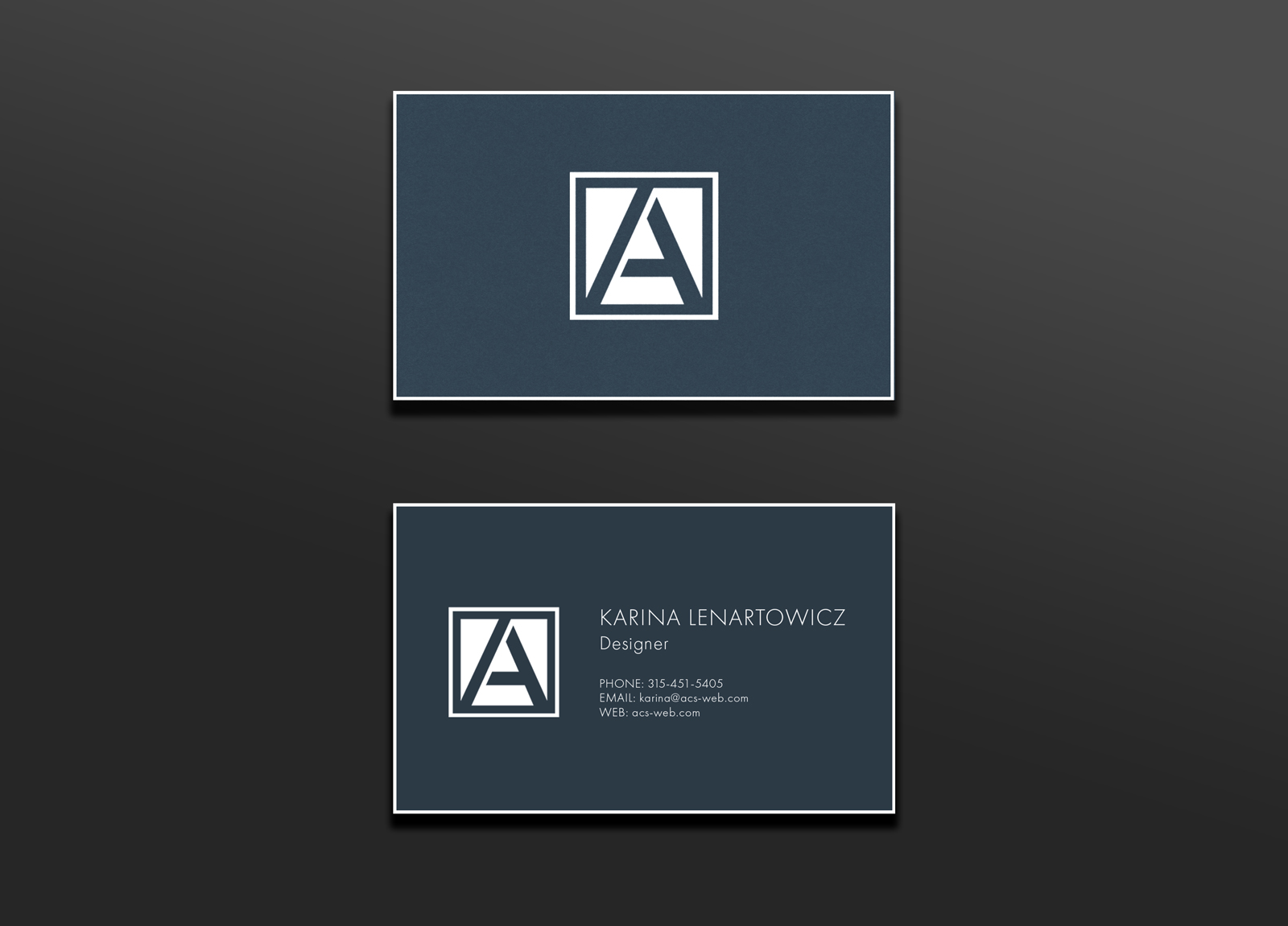 ACS Branding and Identity- Print Business Card Design