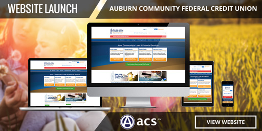 responsive credit union website design for auburn community fcu from acs inc web design and seo