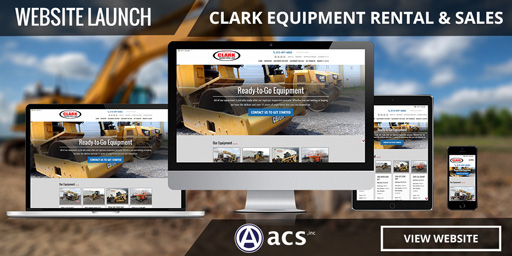 ecommerce web design for clark equipment by acs inc web design and seo