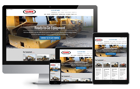responsive web design for ecommerce for clark equipment from acs inc web design and seo