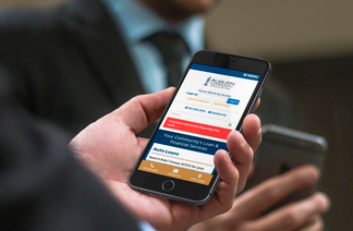 image of user on mobile viewing federal credit union website
