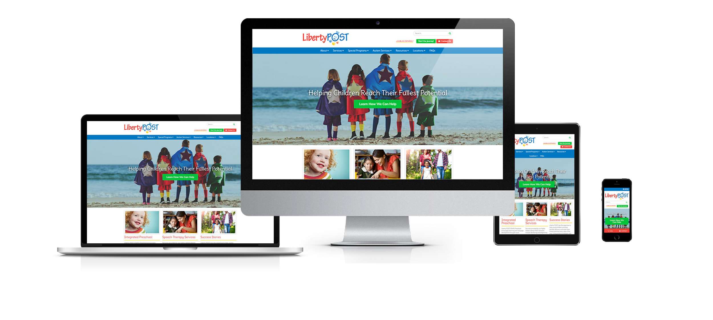 responsive pediatric website design for liberty post by acs inc web design and seo