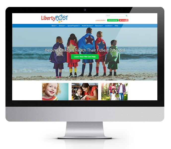 pediatric website design desktop view of liberty post from acs inc web design and seo