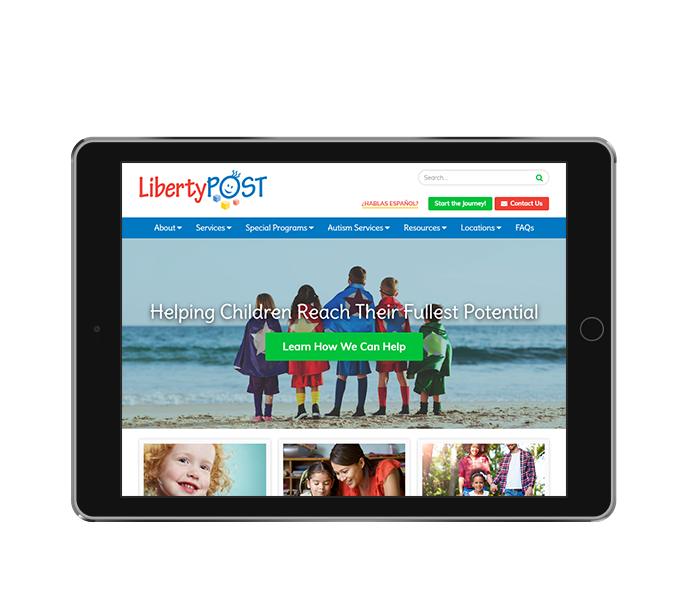 pediatric website design tablet landscape perspective of liberty post from acs inc web design and seo