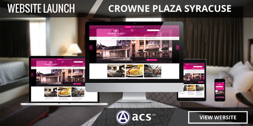 hotel web design crowne plaza syracuse portfolio listing from acs inc web design and seo