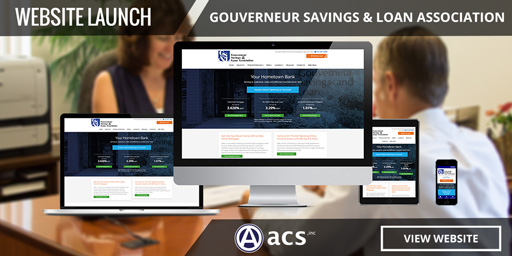 banking website design for gouverneur savings and loan association portfolio by acs inc web design and seo