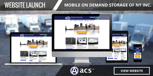 storage company website design for mobile on demand ny portfolio by acs inc web design and seo