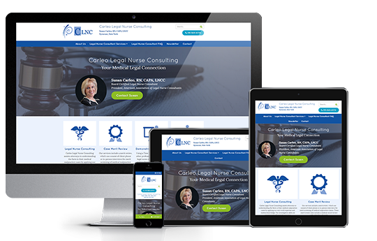 responsive website design for legal web design of carleo legal nurse consulting by acs inc web design and seo
