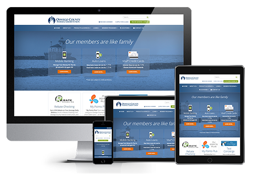 credit union web design ocfcu example from acs web design and seo