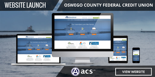 credit union website design of oswego county fcu portfolio listing from acs inc web design and seo