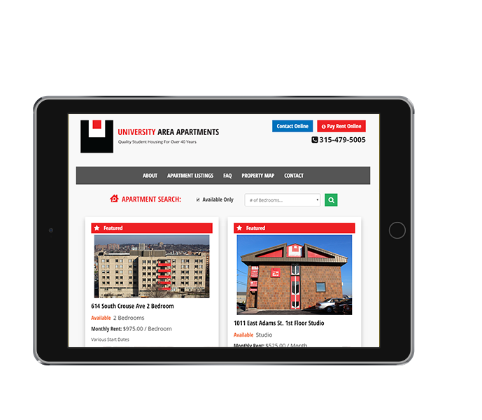 Apt Websites: Student Apartments Website Design
