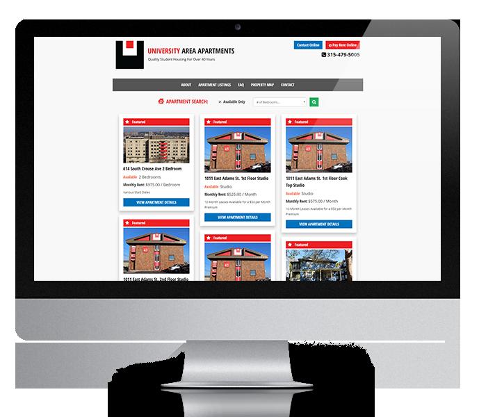 Websites For Apartment Rentals: Student Apartments Website Design