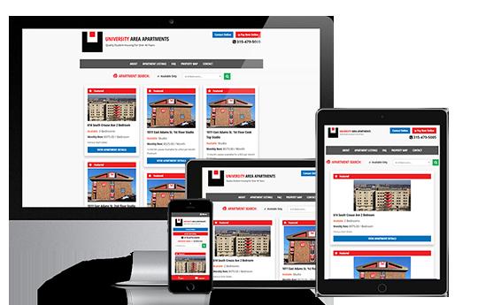 Student Apartments Website Design   Apartment Web Design ...