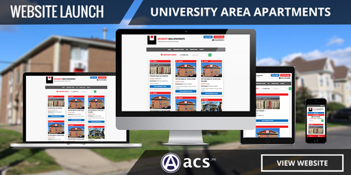 student apartments website design listing ua by acs inc web design and seo