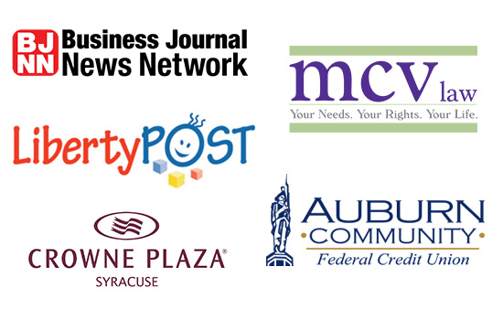 web design company image of client logos from 2018 projects including business journal news network mcv law liberty post crowne plaza syracuse auburn community federal credit union