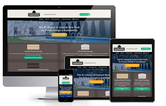 contractor website design responsive design gasparini fence company from acs inc web design and seo