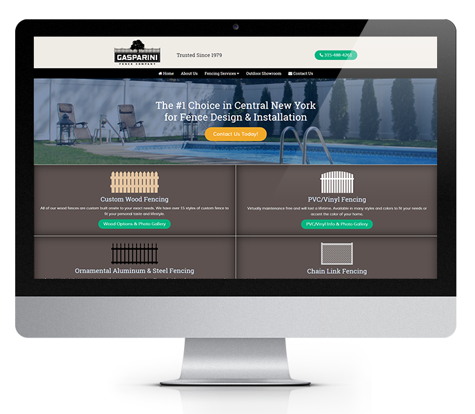contractor website design desktop view from acs inc web design and seo