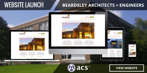 architecture website design portfolio listing for beardsley by acs inc web design and seo