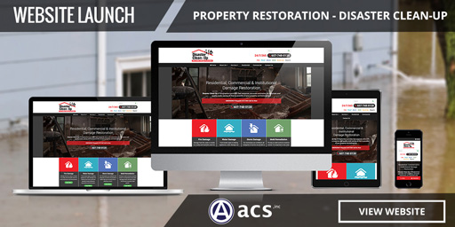 website branding for disaster clean up and property restoration by acs inc web design and seo
