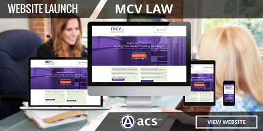 legal website design for mcv law from acs inc web design and seo