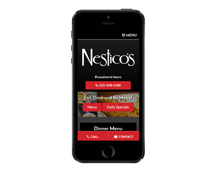 restaurant website design mobile friendly by acs inc web design and seo