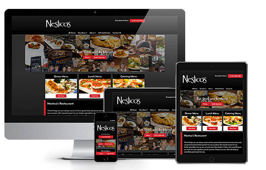 restaurant website design responsive nesticos view by acs inc web design and seo