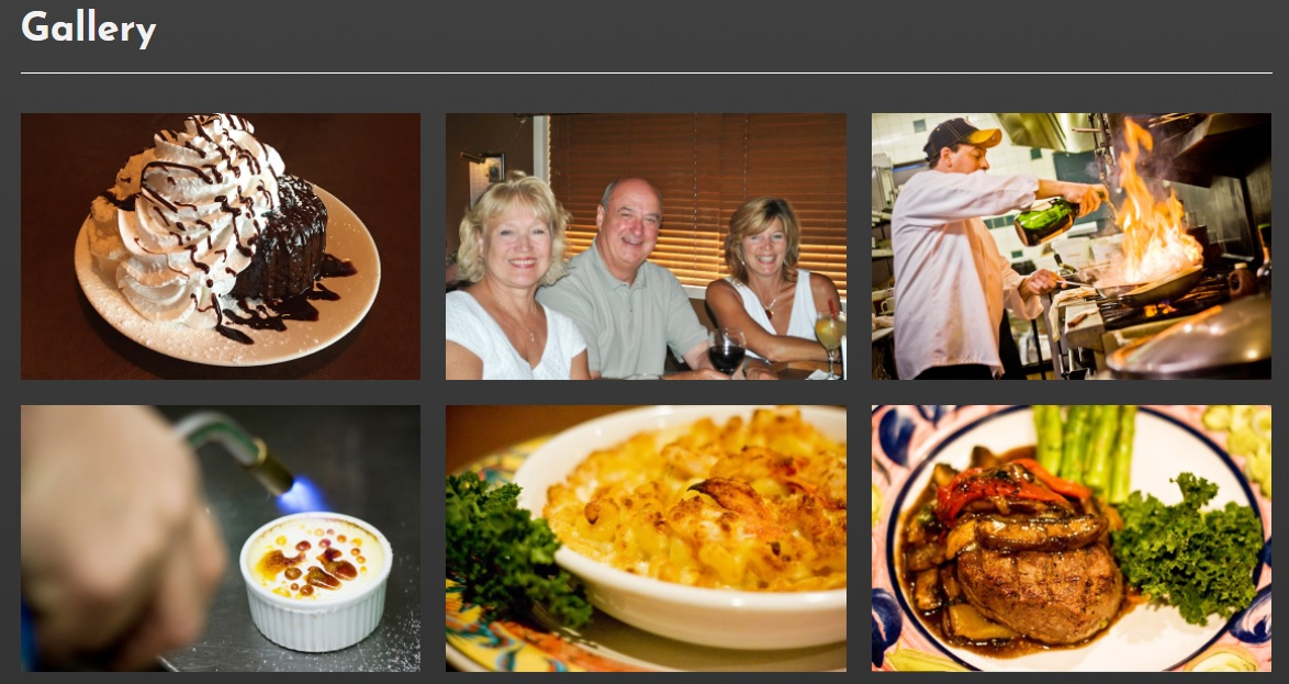 restaurant website design gallery from acs inc web design and seo