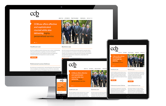 attorney website design responsive web design for ccb law by acs inc