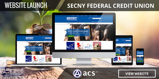 best credit union website design secny portfolio by acs