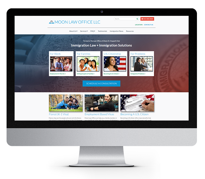 law firm website design moon law office desktop by acs web design and seo