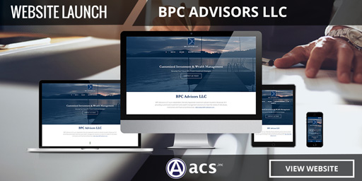 financial advisor website design bpc advisors portfolio listing from acs web design and seo