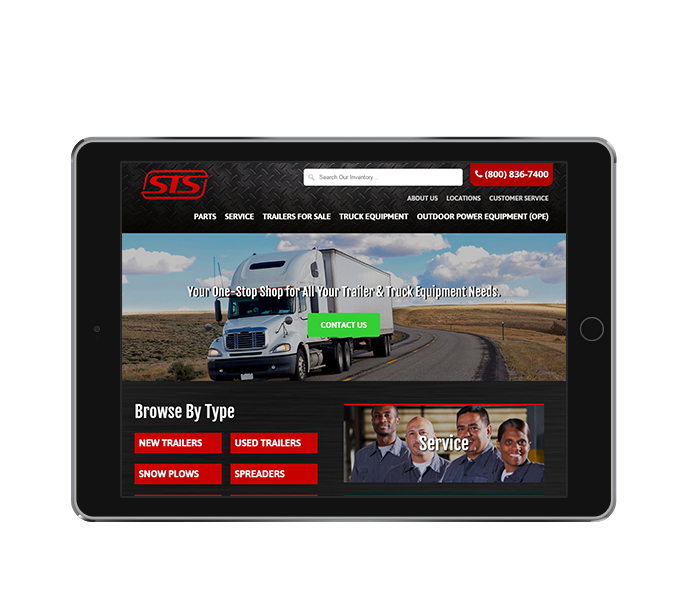 ecommerce website design tablet landscape sts from acs web design and seo
