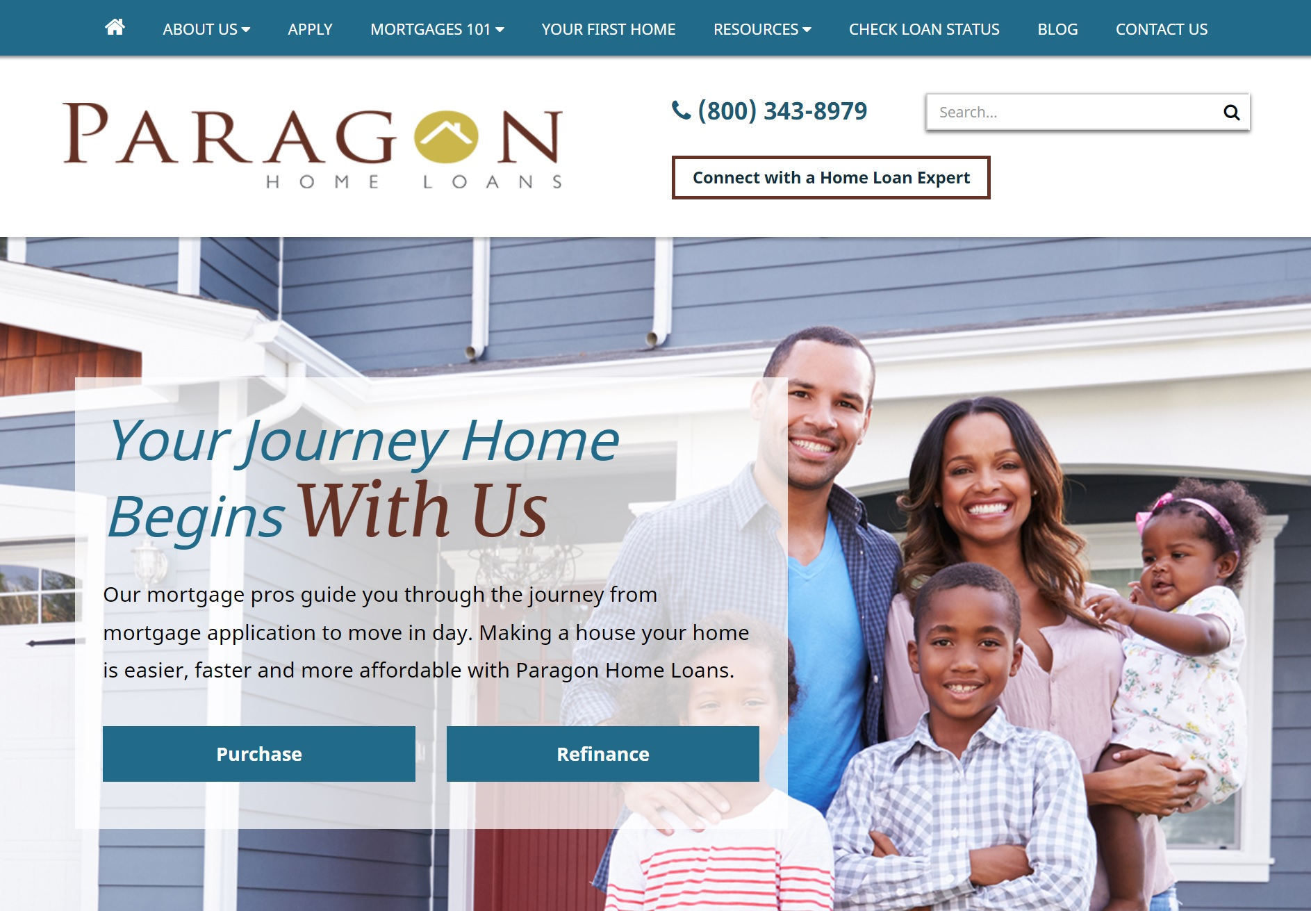 mortgage marketing brand identity for paragon home loans by acs web design and seo