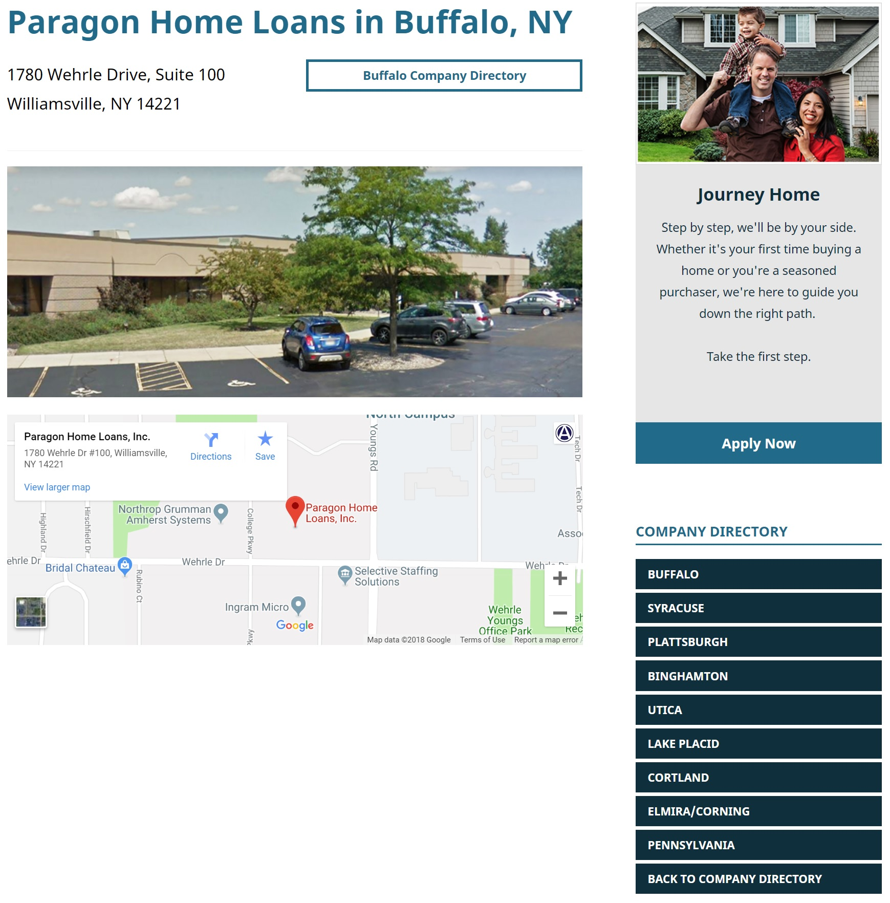 mortgage marketing locations pages for paragon home loans by acs web design and seo