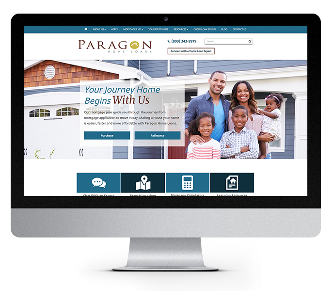 mortgage marketing desktop paragon home loans by acs web design and seo