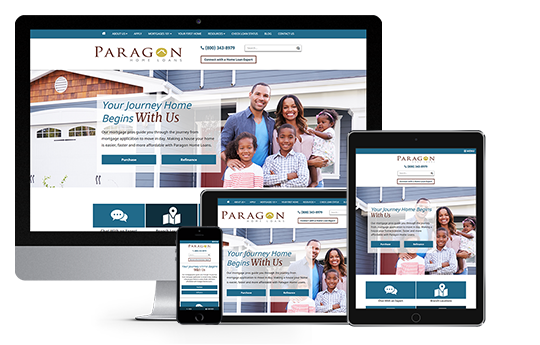 mortgage marketing responsive web design paragon home loans by acs web design and seo