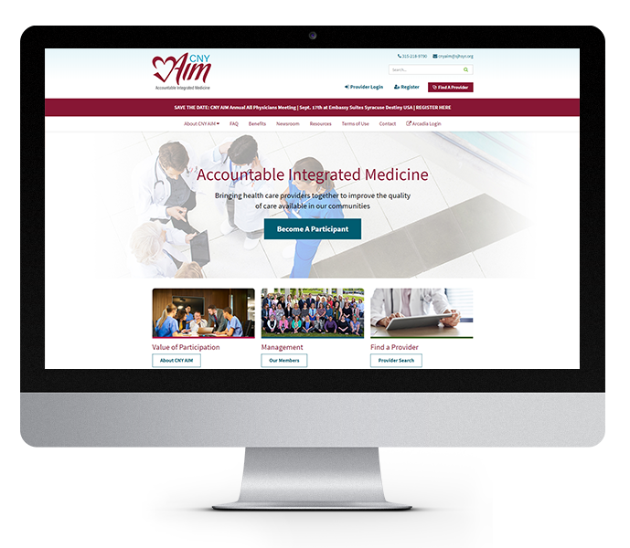 healthcare website design desktop cny aim from acs web design and seo