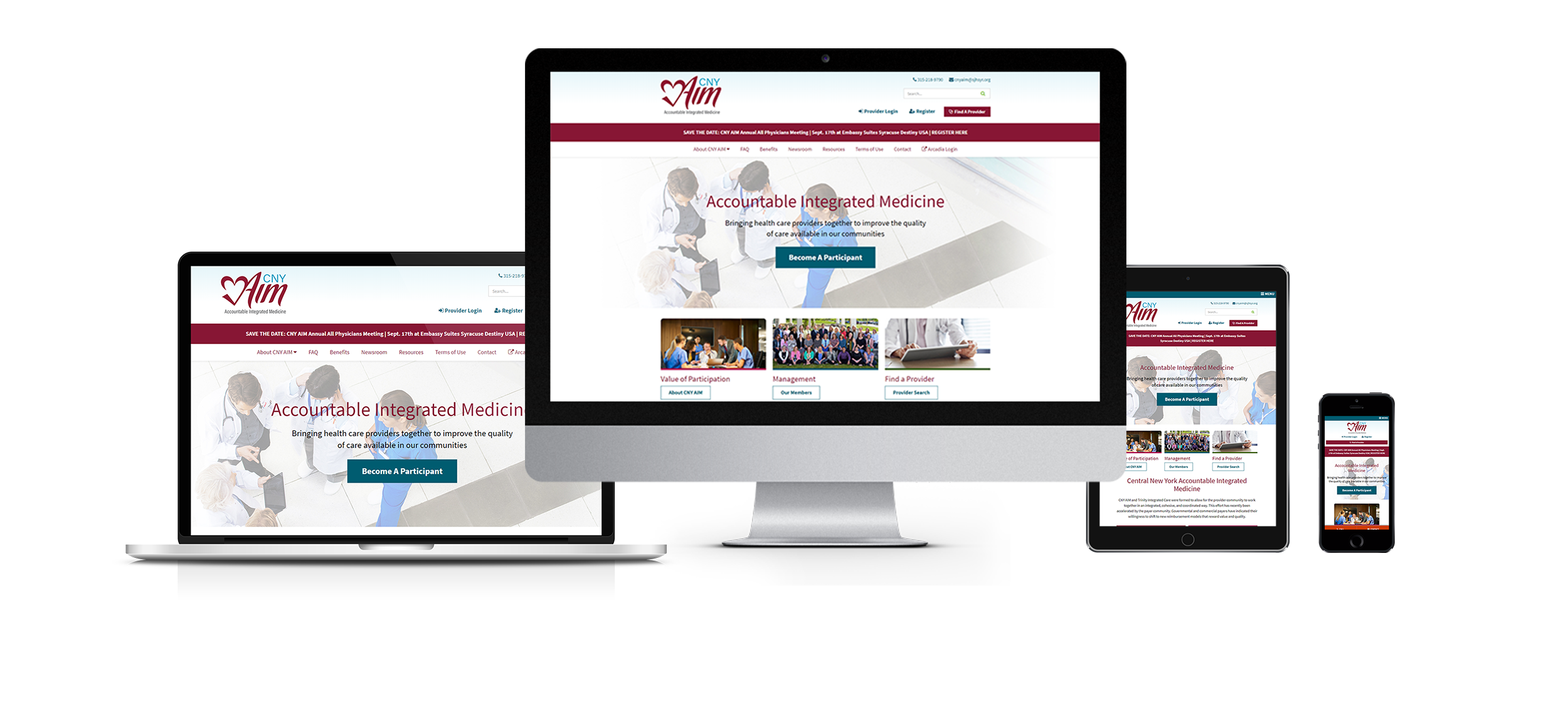 healthcare website design responsive website design for cny aim from acs web design and seo