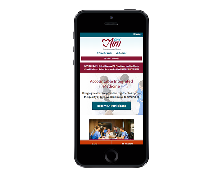 healthcare website design mobile friendly cny aim from acs web design and seo