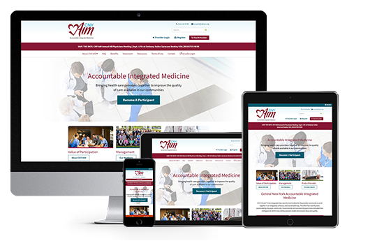 healthcare website design responsive web design for cny aim by acs web design and seo