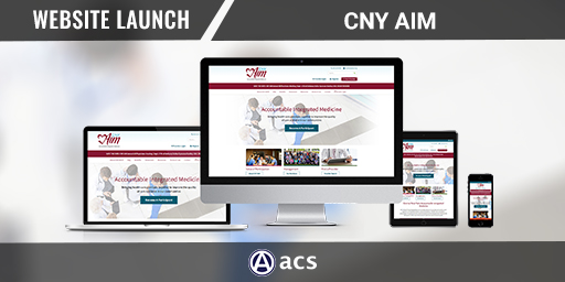 healthcare website design portfolio listing cny aim from acs web design and seo