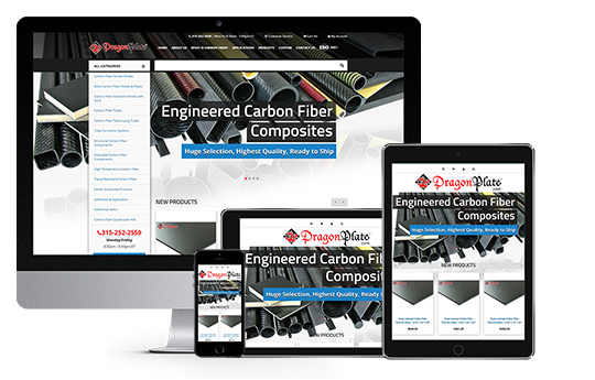enterprise eCommerce website design dragonplate responsive web design from acs web design and seo