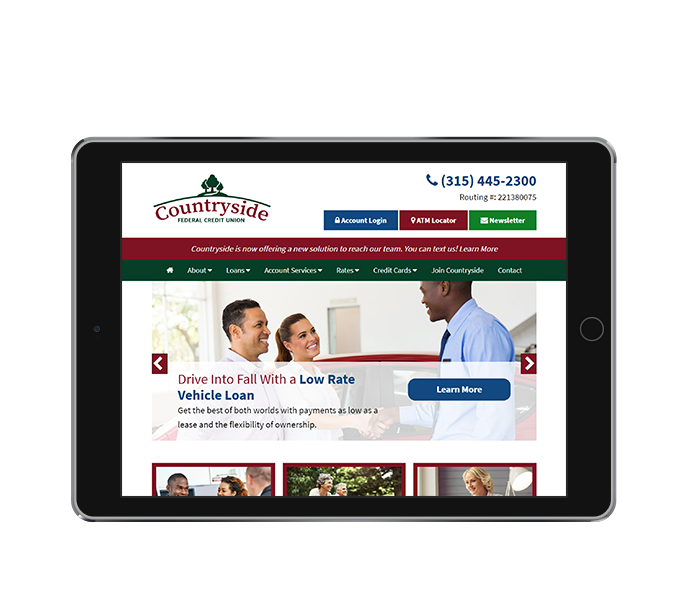 credit union web design tablet landscape countryside fcu from acs web design and seo