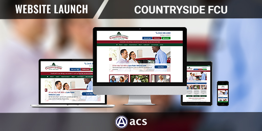 credit union web design portfolio listing countryside fcu from acs web design and seo
